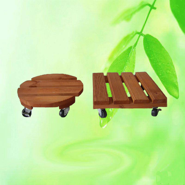 Wooden plant mover flower stand dolly china manufacturer for Garden tools manufacturers