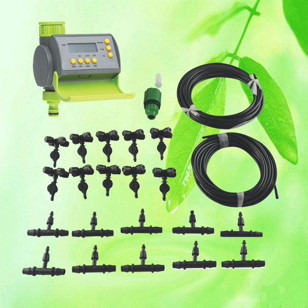 Automatic Drip Irrigation Watering Kit w. Timer,Garden self watering on automatic garden watering systems, automatic plant watering device, automatic water system bucket,
