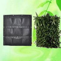 9 Pockets Wall Planter Green Pots Grow Container Bags HT5096