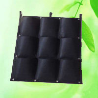 China 9 Pocket Reinforced Square Hanging Vertical Garden Wall Planter HT5096C factory manufacturer supplier