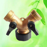 China Brass Dual Outlet Hose Adapter HT1275 factory manufacturer supplier