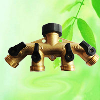 China Brass Multi Tap Adapter 4 Way Outlet HT1276 factory manufacturer supplier