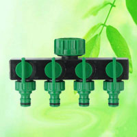 China Garden Hose 4-Way Tap Connector Pipe Splitter HT1230A  factory manufacturer supplier
