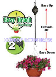 Garden Retractable Plant Hanger Pulley Set HT5067