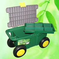 Garden Tool Box with Seat and Wheels HT5424