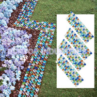 China Multicolor Glass Border Garden Edging HT5609B factory manufacturer supplier