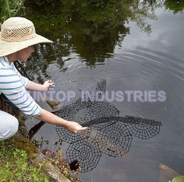 Floating fish pond protection netting guard china for Garden pond guards