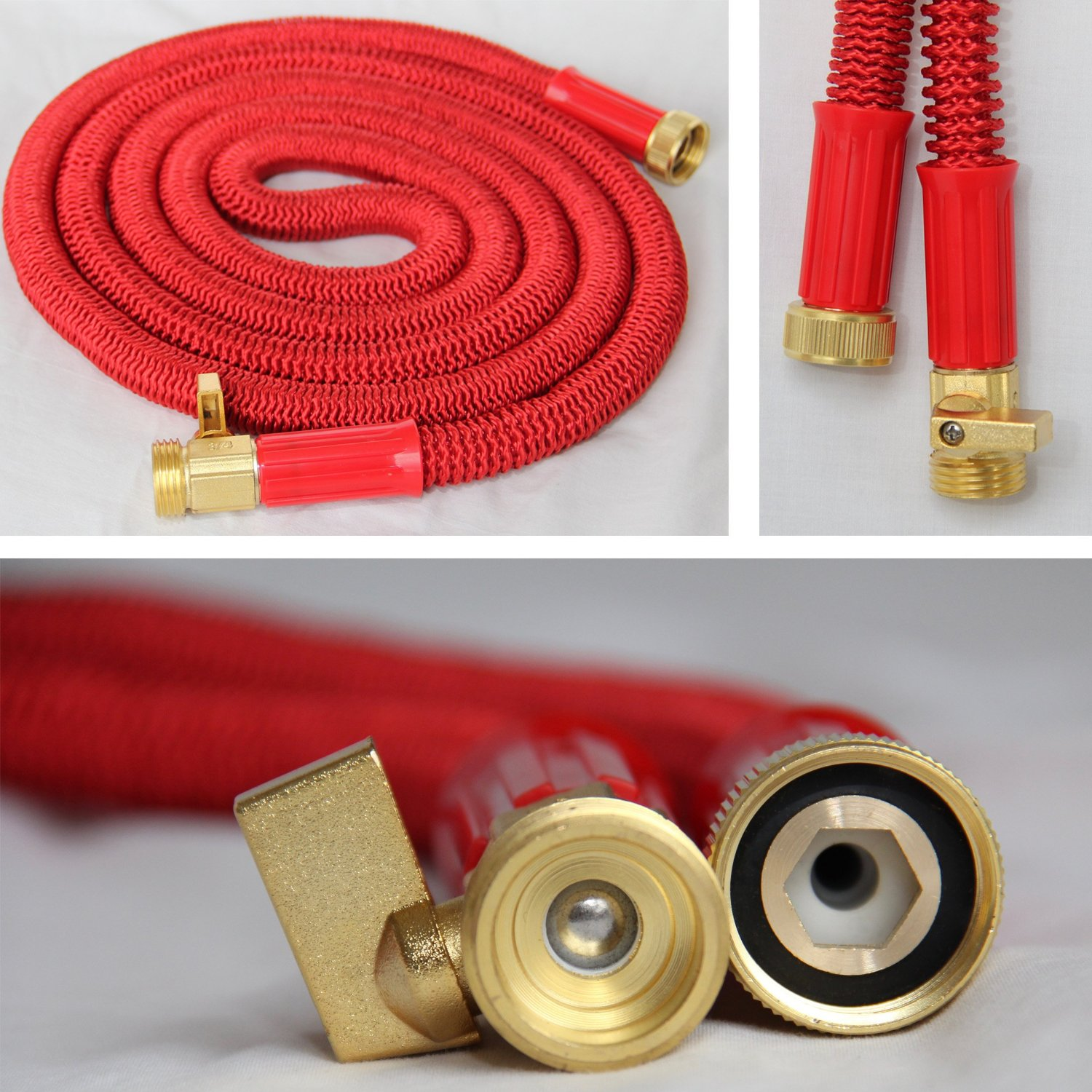 Durable Updated Expandable Garden Hose Brass Fitting HT1079