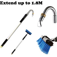 Telescope Gutter Cleaning Wand Ratcheting Head Irrigation Rain Washer Tool New