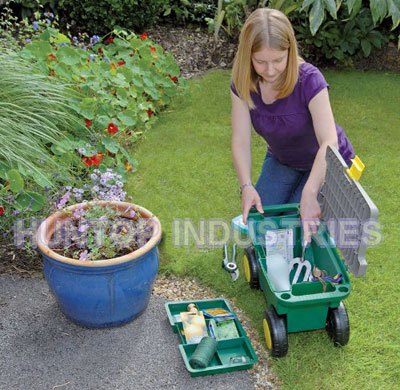 Garden Tool Box With Seat And Wheels