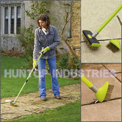 Telescopic Wire Patio Brush With Weed Garden Scraper China